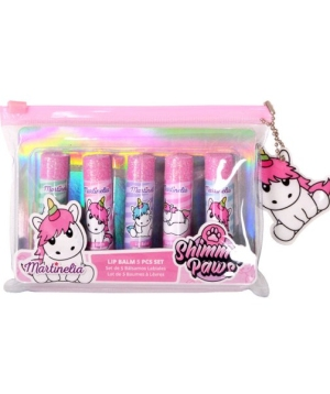 martinelia Shimmer Paws Lip Balm Cosmetic Bag Unicorn