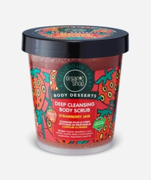 Organic Shop Body Desserts Strawberry Jam Deep Cleansing Body Scrub