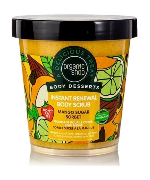 Organic Shop Body Desserts Mango Sugar Sorbet renewal body scrub